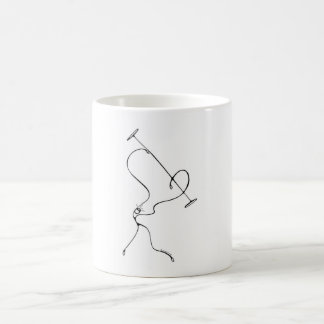 White 325 ml  Classic White Mug. Gym Girl. Coffee Mug