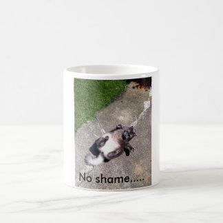 White 325 ml  Classic White Mug. No shame cat. Coffee Mug
