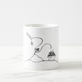 White 325 ml  Classic White Mug. Planting. Coffee Mug