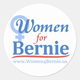 """White 3"""" Round Sticker Sheet of 6 Women for Bernie"""