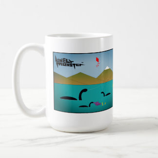 White 444 ml Mug - Tennis and Kites