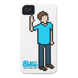 White 8-bit iPhone 4 Case