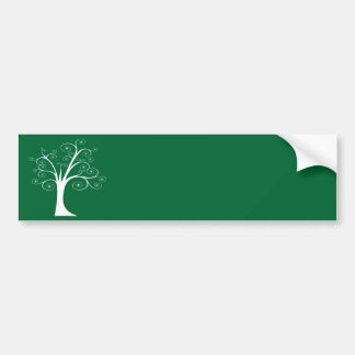 White Abstract Tree Bumper Stickers