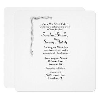 White Accent Wedding Invitation
