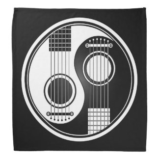 White Acoustic Guitars Yin Yang Bandana