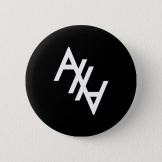 White AHA 2 Inch Round Button
