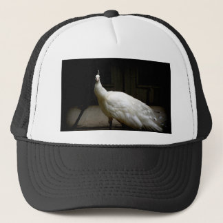 White Albino Peacock Trucker Hat