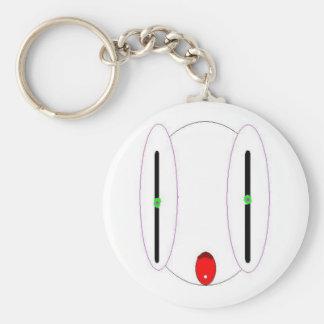 White Alien Keychain