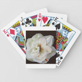 White Amaryllis Poker Deck