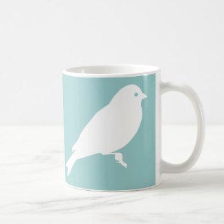 White American Goldfinch Silhouette Classic White Coffee Mug