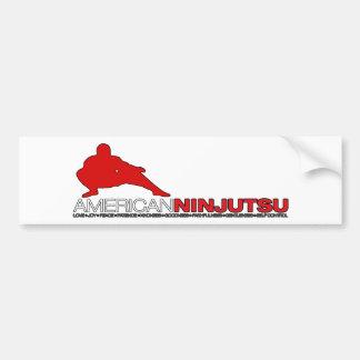 White American Ninjutsu Bumper Sticker