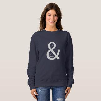 White Ampersand Fish Funky Women's Fashion Sweater
