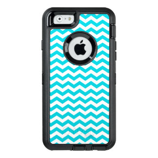 White and Aqua Zig Zag Pattern OtterBox iPhone 6/6s Case
