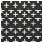 White and Black A-10 Warthog Attack Jet Pattern Fabric