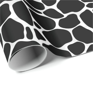 White And Black Abstract Leopard Pattern Gift Wrap Paper