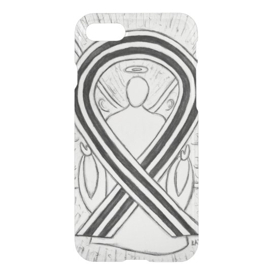 White and Black Awareness Ribbon iPhone 7 Case