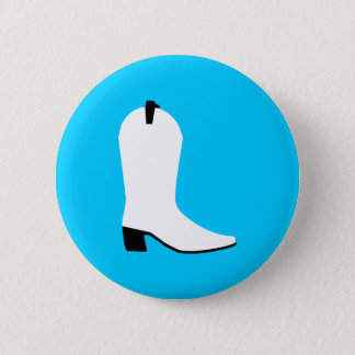 White and Black Boot 2 Inch Round Button