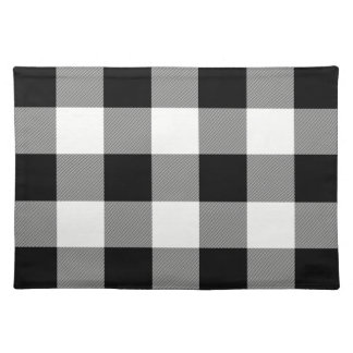 White and Black Buffalo Check - Plaid Place Mat