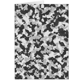 White and Black Camo pattern Card