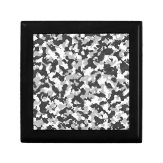 White and Black Camo pattern Gift Box