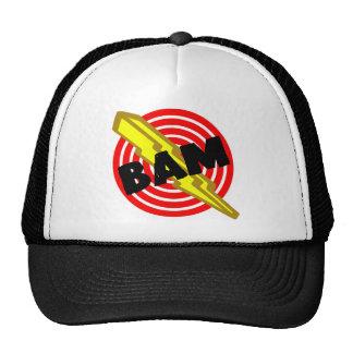 """White and black cap """"BAM """" Trucker Hat"""