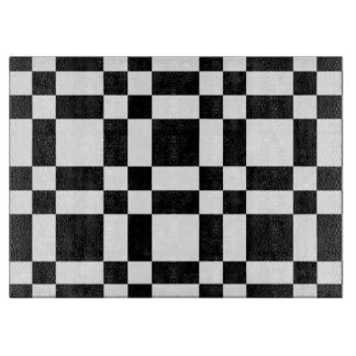 White and Black Checkered Cutting Board