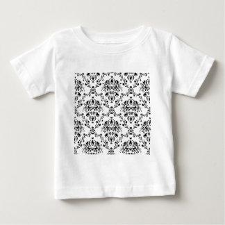 White and Black Damask Baby T-Shirt