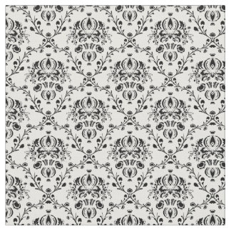 White and Black Damask Fabric