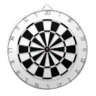 white and black dartboard