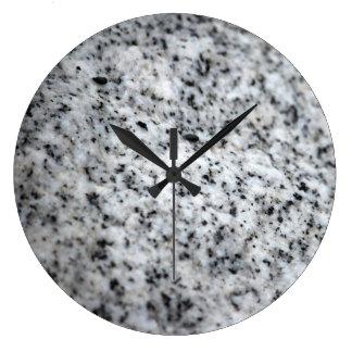 White and Black Granite Wall Clock