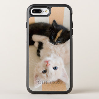 White And Black Kitten Lying On Sofa OtterBox Symmetry iPhone 7 Plus Case