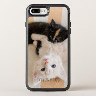 White And Black Kitten Lying On Sofa OtterBox Symmetry iPhone 8 Plus/7 Plus Case