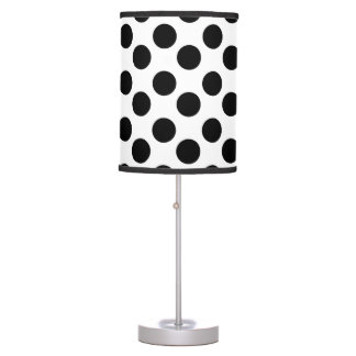 White and Black Large Polka Dot Lamp