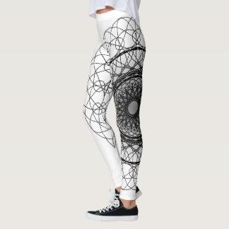 White and Black Leggings
