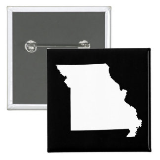 White and Black Missouri 2 Inch Square Button