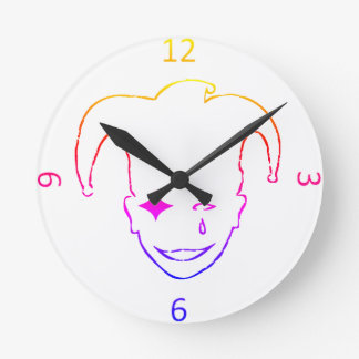 White And Black MTJ Round Clock