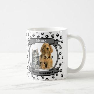 White and Black Paw Prints Dog or Cat Memorial Coffee Mug