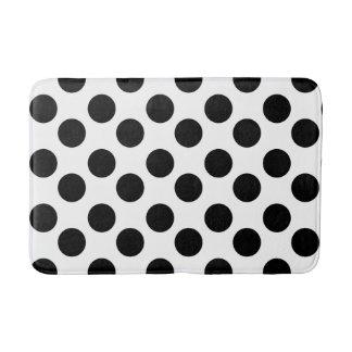 White and Black Polka Dot Foam Bath Mat