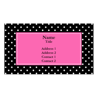 White and Black Polka Dot Pattern Pack Of Standard Business Cards