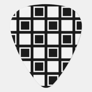 White and Black Squares Guitar Pick