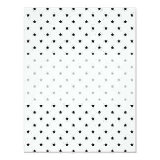 "White and Black Star Pattern. 4.25"" X 5.5"" Invitation Card"