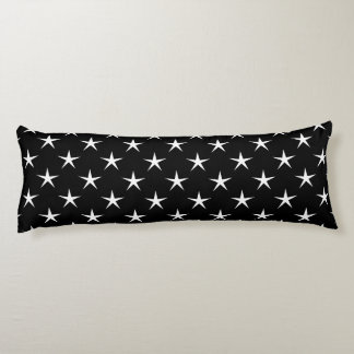 White and Black Star Pattern Body Pillow