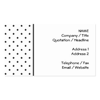 White and Black Star Pattern. Business Card Templates