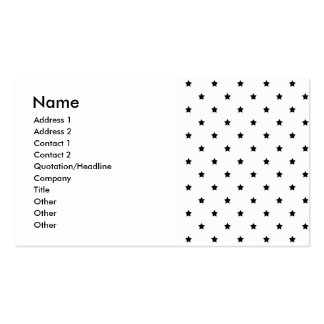 White and Black Star Pattern. Pack Of Standard Business Cards
