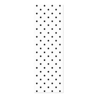 White and Black Star Pattern. Business Card Template