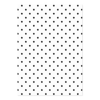 White and Black Star Pattern. Business Cards