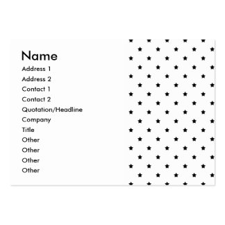 White and Black Star Pattern. Pack Of Chubby Business Cards