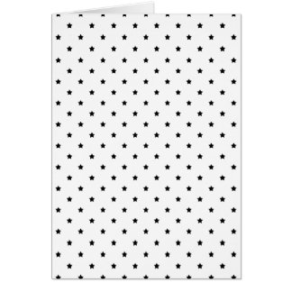 White and Black Star Pattern. Note Card