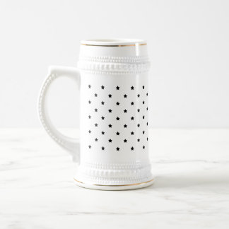 White and Black Star Pattern. Mug