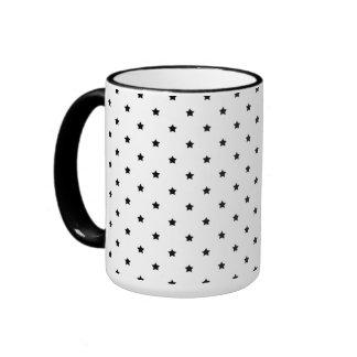 White and Black Star Pattern. Mugs